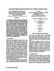 Symmetry-based Face Pose Estimation from a Single ... - CiteSeerX