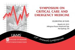 SYMPOSIUM ON CRITICAL CARE AND EMERGENCY MEDICINE ...