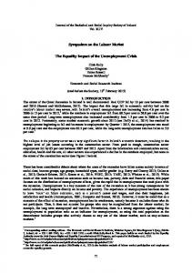 Symposium on the Labour Market The Equality Impact of the ...