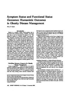 Symptom Status and Functional Status Outcomes - Wiley Online Library
