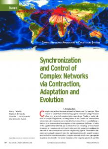 Synchronization and Control of Complex Networks via ... - IEEE Xplore
