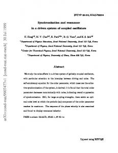 Synchronization and resonance in a driven system of coupled oscillators