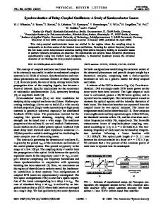 Synchronization of Delay-Coupled Oscillators - Engineering and ...