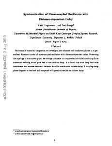 Synchronization of Phase-coupled Oscillators with Distance ...