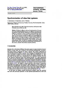 Synchronization of slow-fast systems