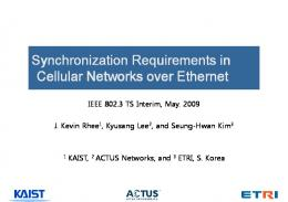 Synchronization Requirements in Cellular Networks over Ethernet