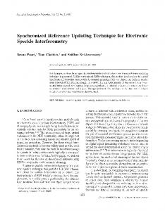 Synchronized reference updating technique for ... - Springer Link
