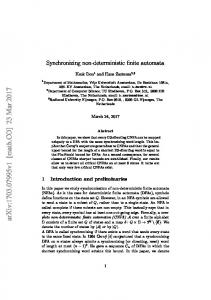 Synchronizing non-deterministic finite automata