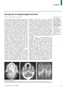 Syncope due to nasopharyngeal carcinoma - The Lancet