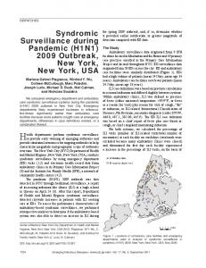 Syndromic Surveillance during Pandemic (H1N1) 2009 Outbreak ...