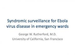 Syndromic surveillance for Ebola virus disease in ...