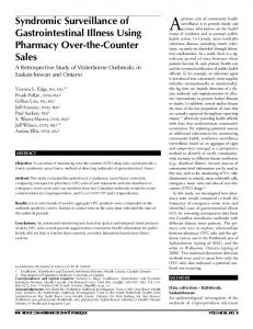 Syndromic Surveillance of Gastrointestinal Illness Using Pharmacy ...
