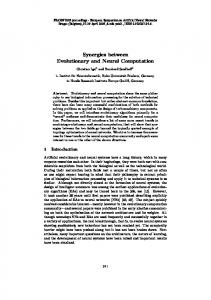 Synergies between Evolutionary and Neural ... - Semantic Scholar