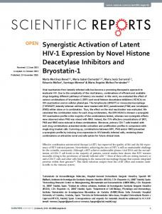 Synergistic Activation of Latent HIV-1 Expression by ... - CyberLeninka