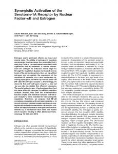 Synergistic Activation of the Serotonin-1A Receptor by ... - CiteSeerX