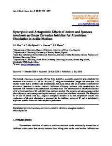 Synergistic and Antagonistic Effects of Anions and Ipomoea invulcrata ...