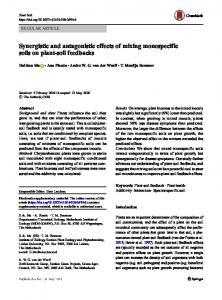 Synergistic and antagonistic effects of mixing ...