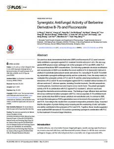 Synergistic Antifungal Activity of Berberine