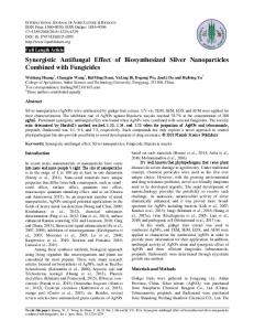 Synergistic Antifungal Effect of Biosynthesized Silver Nanoparticles ...
