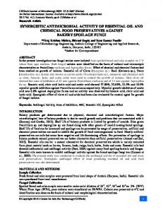 synergistic antimicrobial activity of essential oil and