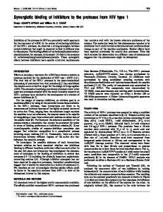 Synergistic binding of inhibitors to the protease ... - Semantic Scholar