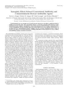 Synergistic Effects between Conventional Antibiotics and 2 ...