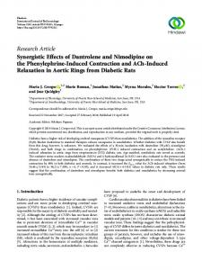 Synergistic Effects of Dantrolene and Nimodipine on the ...