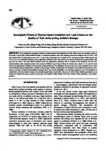 Synergistic Effects of Electron-beam Irradiation and Leek Extract on