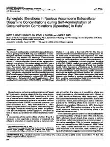 Synergistic Elevations in Nucleus Accumbens ... - Semantic Scholar