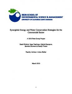 Synergistic Energy and Water Conservation