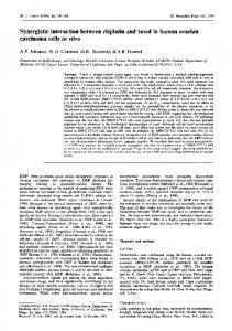 Synergistic interaction between cisplatin and taxol in ... - BioMedSearch