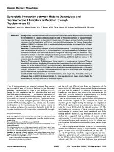 Synergistic Interaction between Histone Deacetylase and ...