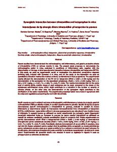 Synergistic interaction between trimetazidine and ketoprophen in mice ...