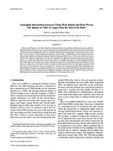 Synergistic Interactions between Urban Heat Islands and Heat Waves ...