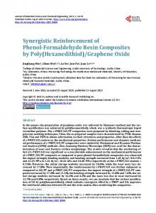 Synergistic Reinforcement of Phenol-Formaldehyde Resin ...