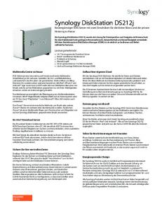 Synology DiskStation User's Guide - Computer Audiophile