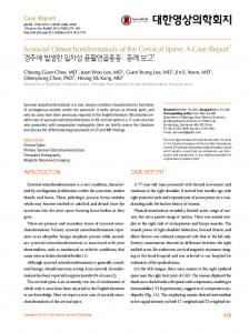 Synovial Osteochondromatosis of the Cervical Spine: A Case Report1 ...