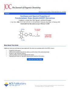 Syntheses and Spectral Properties of ... - TAMU Chemistry