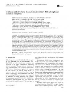 Syntheses and structural characterization of new dithiophosphinato