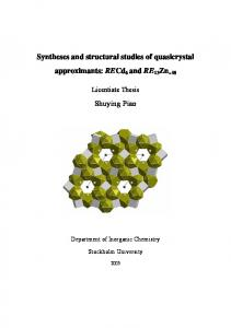 Syntheses and structural studies of quasicrystal