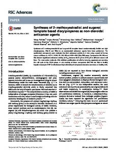 Syntheses of 2-methoxyestradiol and eugenol ...