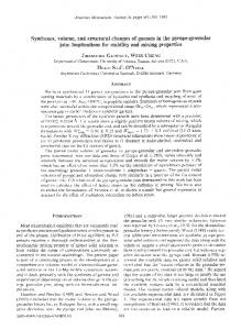 Syntheses, volume, and structural changes of garnets in the pyrope ...