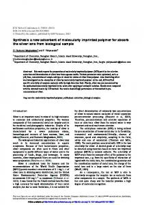Synthesis a new adsorbent of molecularly imprinted polymer for