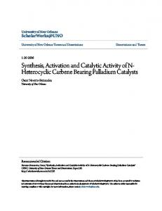 Synthesis, Activation and Catalytic Activity of N