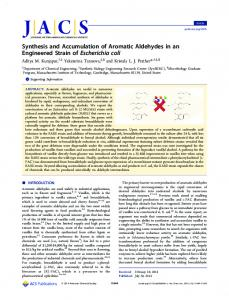 Synthesis and Accumulation of Aromatic ... - ACS Publications
