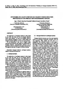 synthesis and adaptation of multiagent communication ... - CiteSeerX