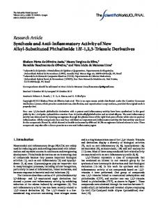 Synthesis and Anti-Inflammatory Activity of New Alkyl-Substituted ...