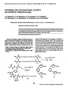 synthesis and anti-influenza activity of synthetic ... - Springer Link