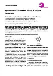 Synthesis and Antibacterial Activity of Juglone