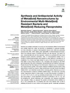 Synthesis and Antibacterial Activity of Metal(loid)